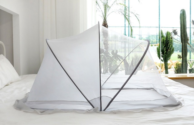 Hot Sales Crib Mosquito Nets Folding Protecting Bed Canopy for Baby