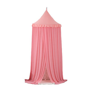 High Quality Indoor Garden Pink Hanging Cotton Umbrella Tent Girl Favorite Princess Cute Castle Play Mosquito Net Tent