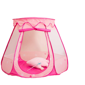 Pop Up Princess Tent Portable Playhouse Toy Pink Princess Castle Fairy Play Tents for Kids