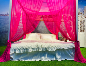 Cozy Four Corners Princess Bed Canopy Luxurious Mosquito Net Decoration Accessories