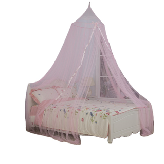 2020 Princess Pink Silk Decoration Circle Hanging Mosquito Net