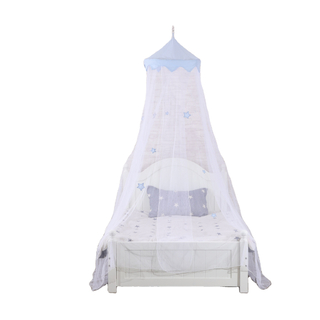 2020 New Style Blue 100% Polyester Kids Beatuiful Stars Umbrella Mosquito Net