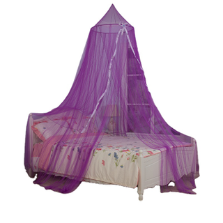 2020 Pretty Purple Elegant Silk Decoration Hanging Mosquito Net