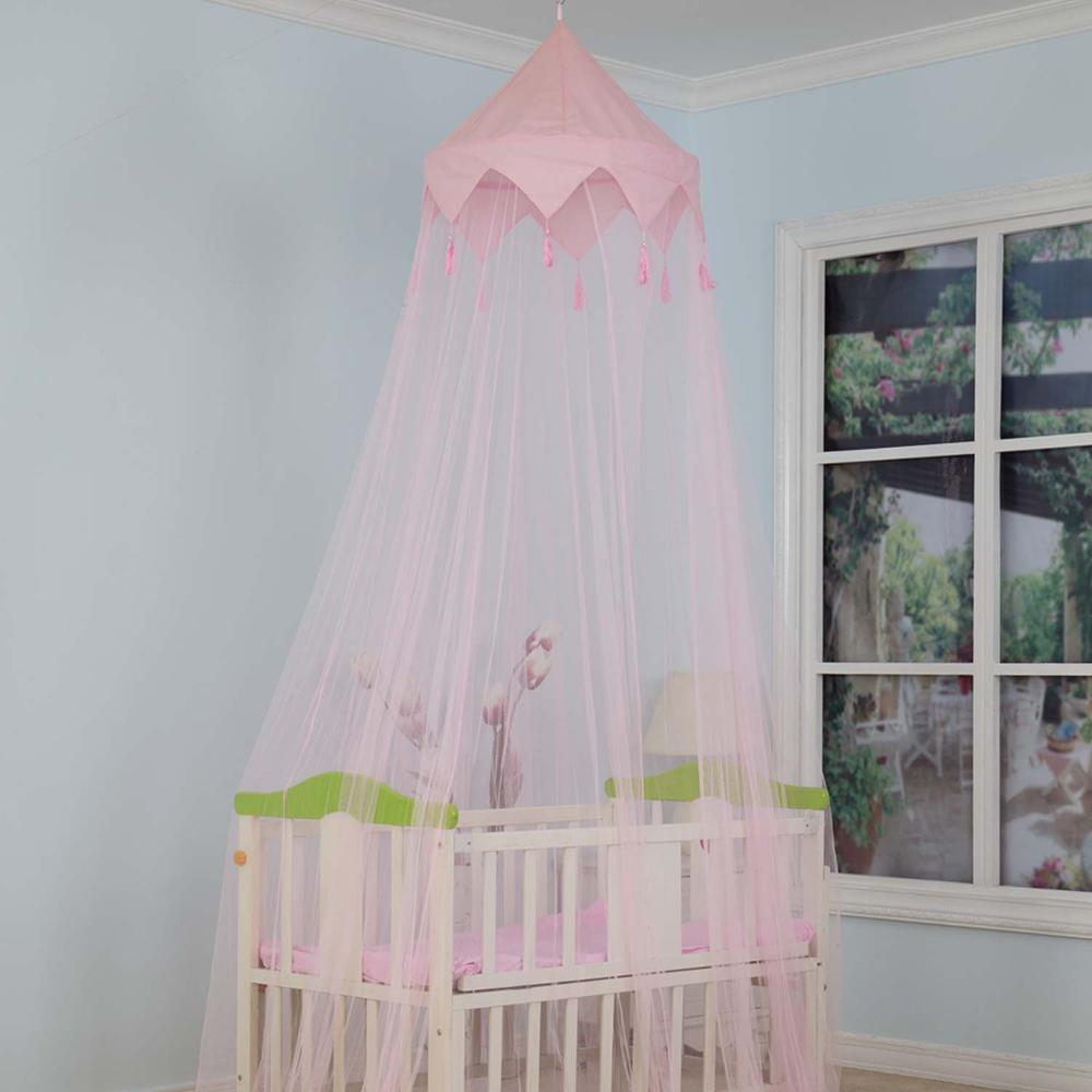 100% polyester conical pop up mosquito canopy net for baby cot
