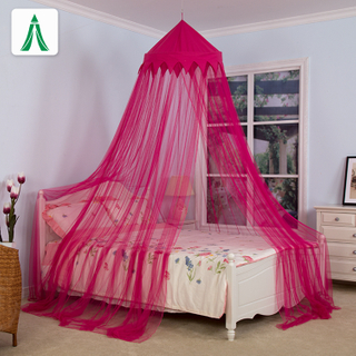 New Decoration Red Elegant Lace Bed Canopy Mosquito Netting