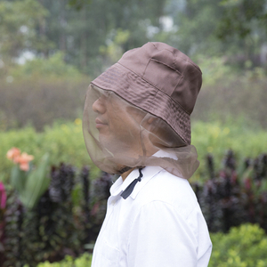 Wholesale Camping Fishing Head Nets Outdoor Mosquito Cover Mesh with Hat