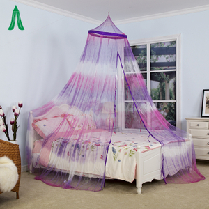 Lightweight Tie Dye Decoration Girls Romantic Bedroom Mosquito Net
