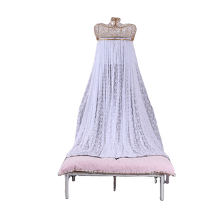 Princess Crown Lace Decorative Bed Canopy Two-color Two-layer Mesh Drape Feeling Full Of Elegant Girls Bed Curtain Mosquito Nets