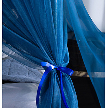 Luxury European Style Blue King Queen Size Adult Bedroom Rectangle Hanging Mosquito Box Nets