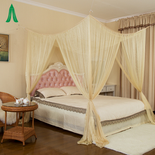 Easy Hanging Mosquito Nets Four Corner Post Bed Canopy for King Size Beds