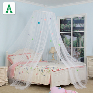 Custom Color Hanging Queen Size Bed Mosquito Protecting Net with Four Color Flower