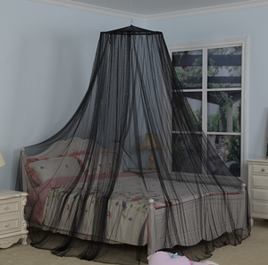 Amazon Top Seller 2019 King Size 100% Polyester Hanging Dome Round Canopy Treated Folding Mosquito Net For Double Bed