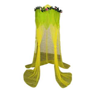 Popular Circular Green Mosquito Nets Flowers Decor Bed Canopy for Kids