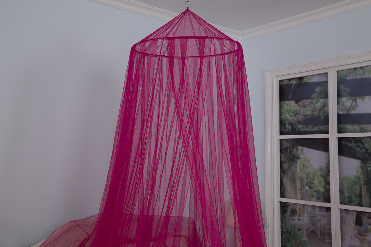 Elegant Red Exotic Hanging Mosquito Nets Conical Home Bed Canopies