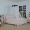 Luxury Home King Size Bed Mosquito Netting Round Top Fabric Mesh Double Bed
