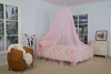 Bow Ribbon Decoration Pink Curtain Canopy Mosquito Net For Kids And Girls