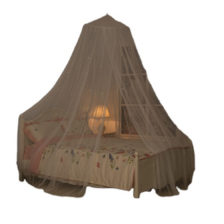 Portable Dome Dreamy Mosquito Nets Bed Hanging Luminous Star Canopy