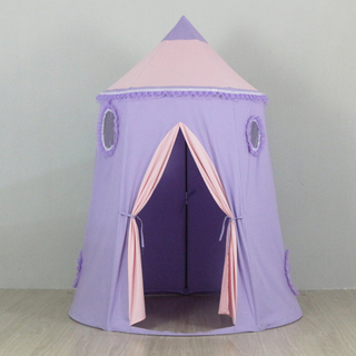 Customized Indoor Soft Toy Purple Boys Girls Kids Play Toys House Tents With One Door