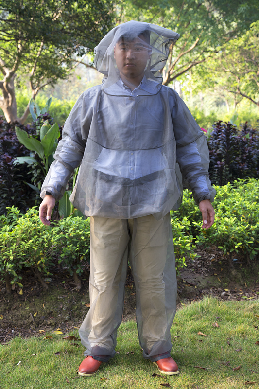 Outdoor Camping Anti- Bug Mosquito Full Cover Suit With Head Net