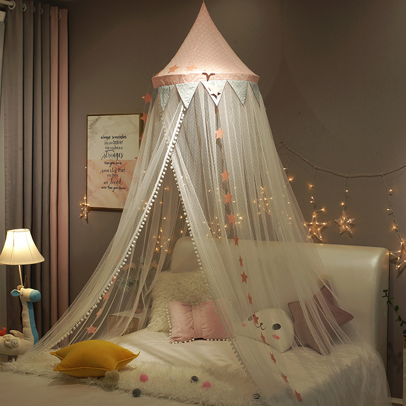Hanging Dome Light And Breathable Tent Small Fresh Princess Style Bed Curtain Mosquito Net