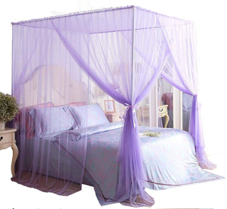 New Design 4 Corner Bed Curtain Draperies Mosquito Nets for Bed Canopy