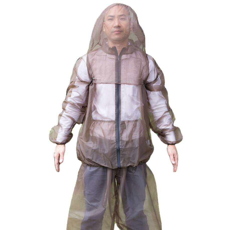 Traveling Fishing Climbing Best Mosquito Three-piece Suit Bug Jacket Hat and Pants For Outdoor Activities