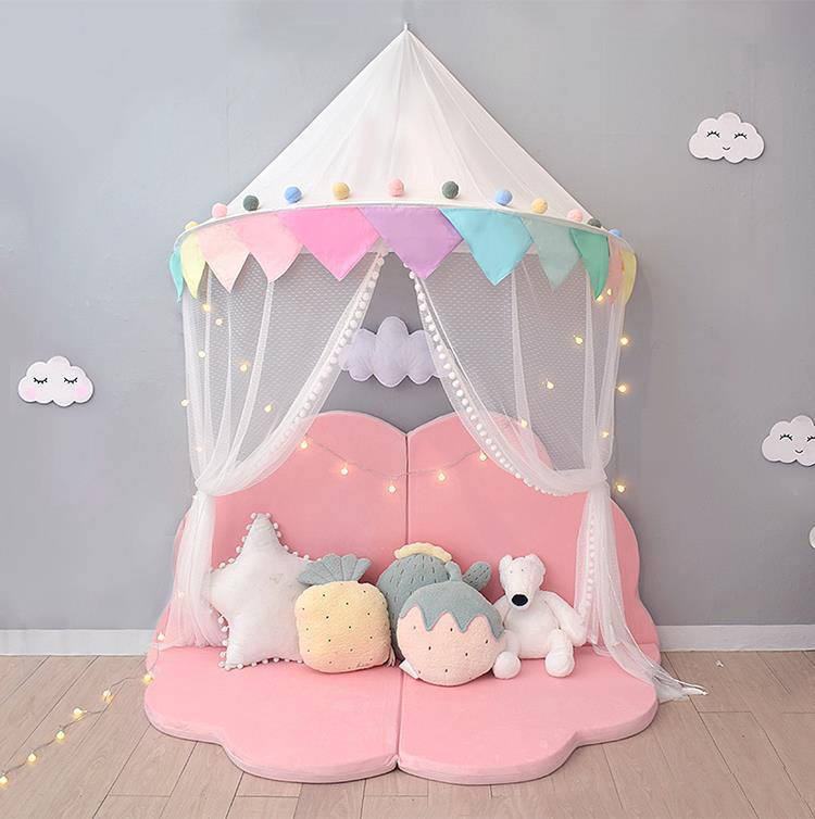 Princess Mosquito Baby Nets Castle Polyester half round Bed Canopies