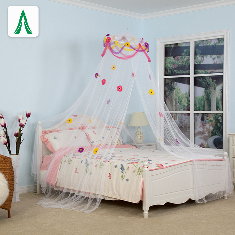 High Quality Polyester Design Pop Up Conical Mosquito Nets Bed Canopy