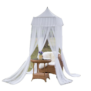 Elegant Four Corner Mosquito Nets Square Bed Canopy Curtain Nets Outdoor