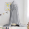 Good Quality Grey Children Boys Mosquito Net Tassel Home Kids Play Tent Bed Canopy
