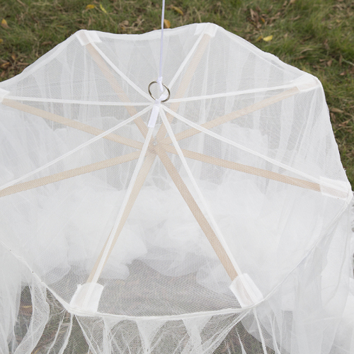 2020 Bamboo Material Top Hanging White Outdoor Insecticide Mosquito Nets