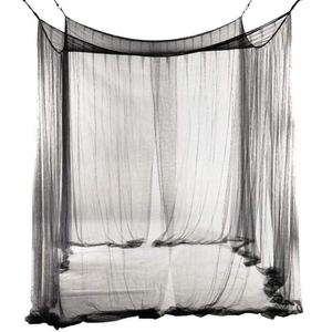 2020 Four Corner Quick And Easy Installation Black Hanging Mosquito Net