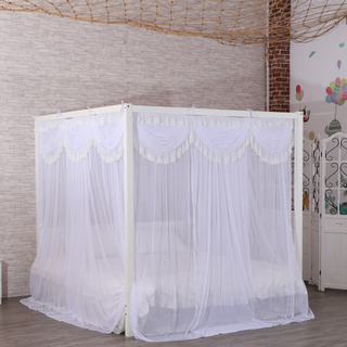 2020 Four Corners Luxurious And Elegant Lace White Square Mosquito Net