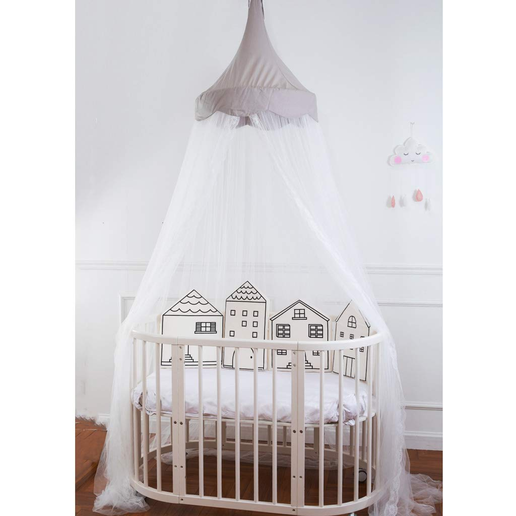 Princess Hanging Bed Canopy Baby Crib Net Lace Round Dome Mosquito Net