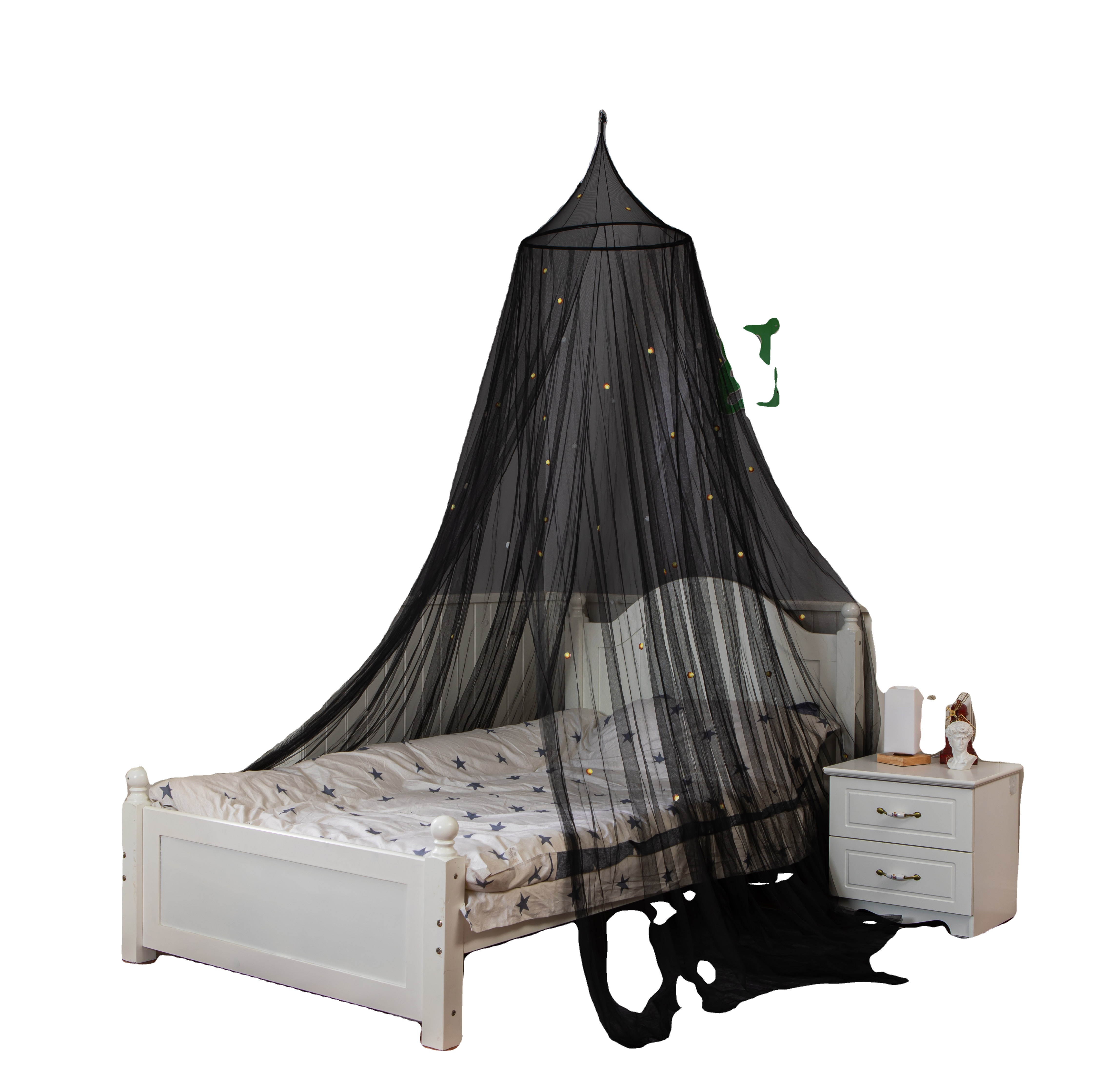 2020 New Product Glowing In The Dark Firefly Black Folding Mosquito Net