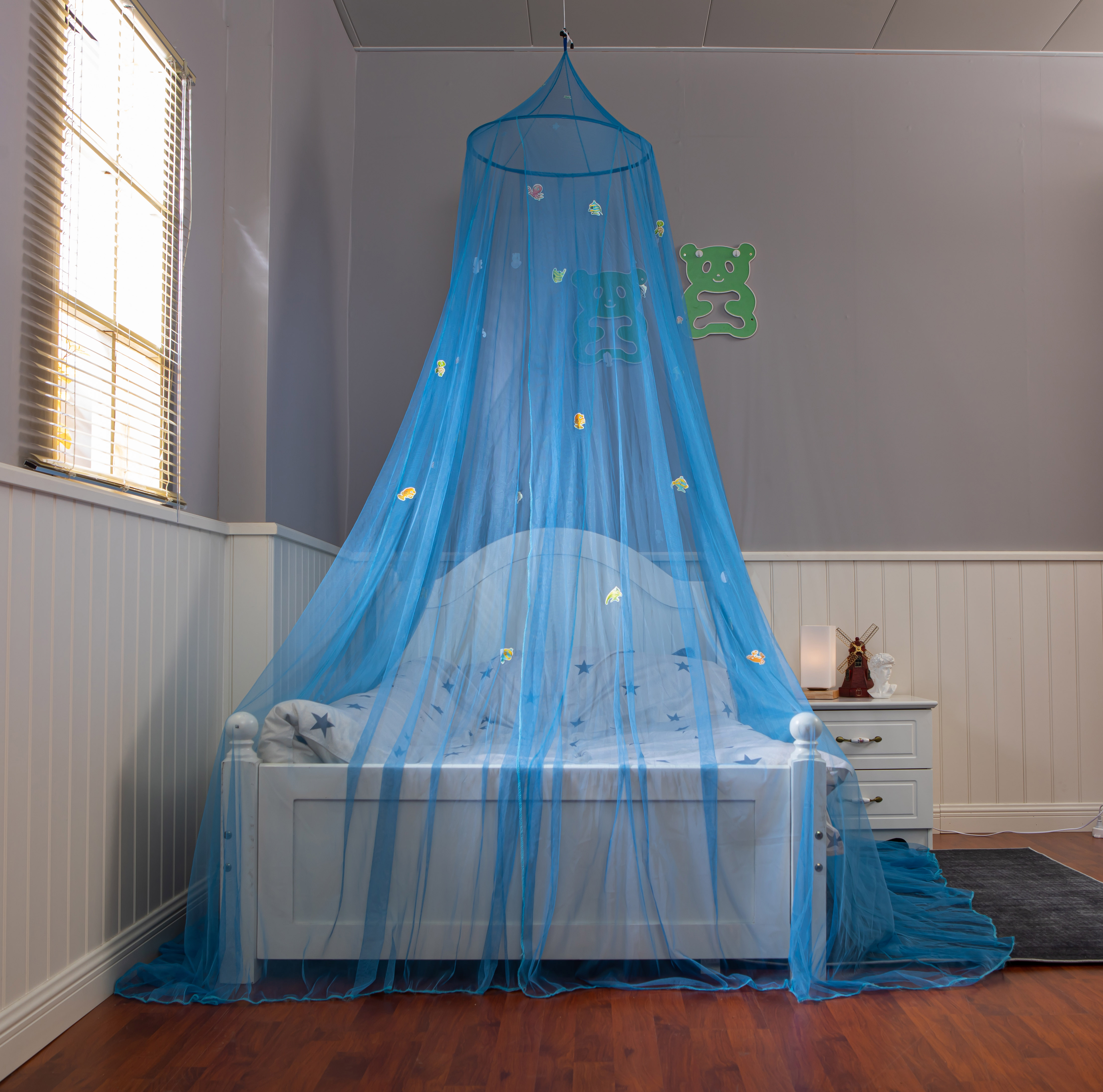 Wholesale Glowing in The Dark Bed Canopy Kids Girls Hanging Mosquito Nets