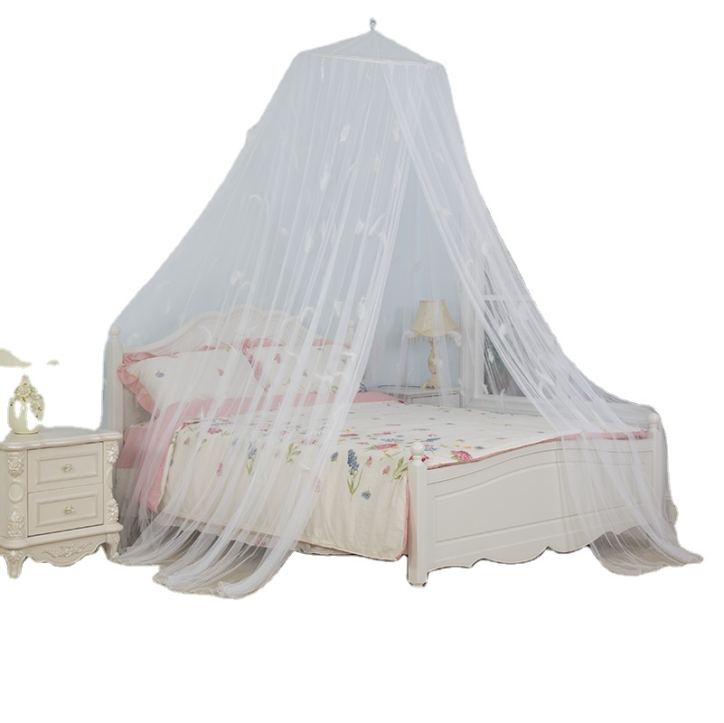 2020 New Design Comfortable Romantic White Feather Mosquito Net