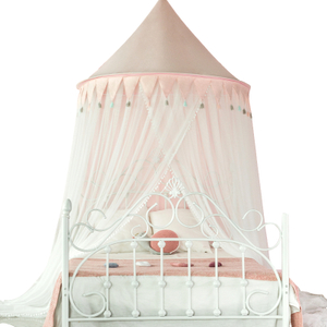Customized Pink Flags Balls Kids Bed Net Bed Canopies For Girls Bed