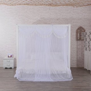 New Design Princess Style Beautiful Lace Canopy Mesh Indoor Home Decoration Net King Queen Size Bed Square Shape Mosquito Net