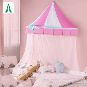 Indoor Children's Pink Color Hanging Bed Canopy for Kids