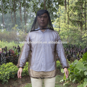 Adult style plain dyed anti mosquito wear jacket for fishing&hunting