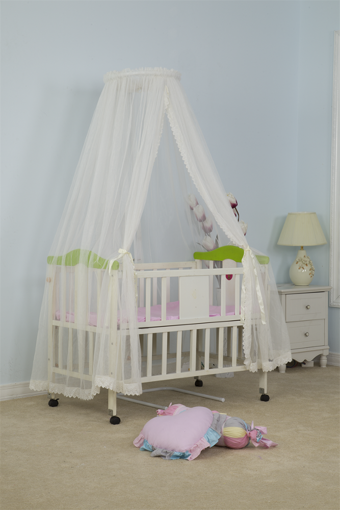 Infant Toddler Mosquito Net Baby Dome Bed Canopy Palace-Style Crib Mosquito Netting Set