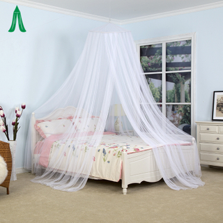 White Circular Conical Mosquito Bed Canopy Net For Bedroom