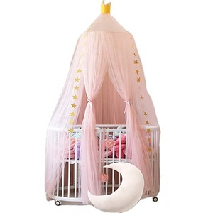 Wholesale Princess 100% Polyester Mosquito Nets Pink Conical Bed Canopy